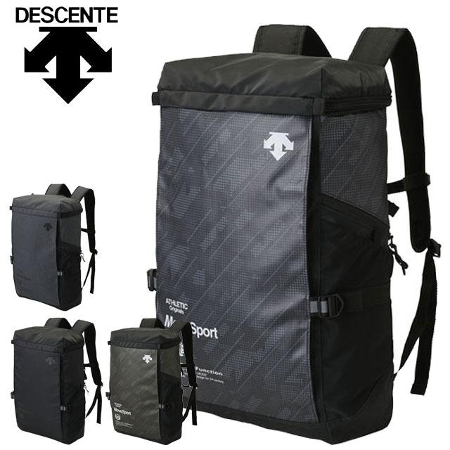 デサント リュツク ファンクショナル スクエアバッグ DMANJA09 DESCENTE バックパック スクエア型 ポケット多数配置 機能的デザイン スポーツバッグ デイリーバッグ