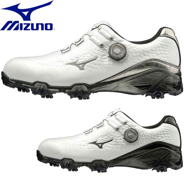 ミズノ ゴルフ ジェネム009ボア EEEE MIZUNO 51GQ1900 スパイク シューズ 靴 スニーカー フラッグシップモデル フィット感 メンズ 一般用