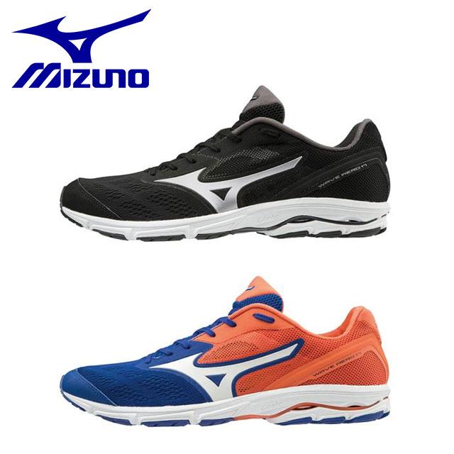 ミズノメンズ レディース フルマラソン サブ4 ランニングシューズ スニーカー 靴 ウエーブエアロ17 軽量 クッション性 ユニセックス J1GA1935 MIZUNO