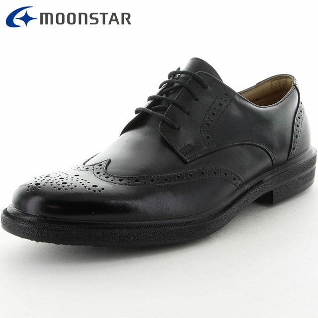 ムーンスター ビジネスシューズ メンズ SPH4015WSR ブラック 滑りにくい 雪寒地向け 3E設計 靴 撥水加工 しなやかなソフトレザー