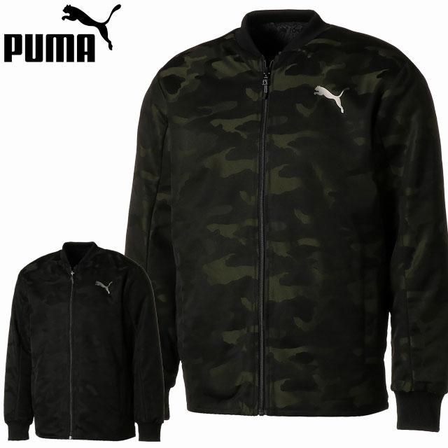 プーマ 防寒 ジャケット メンズ ユニセックス リバーシブル ボア ジャケット 580711 PUMA ジップアップ 裏地がボア素材 スポーティ カジュアル