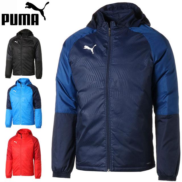 プーマ ウインドブレーカー メンズ カップ トレーニング パデッド ジャケット 656529 PUMA 防風 防寒 アウター 中綿入り 収納可能なフード付き