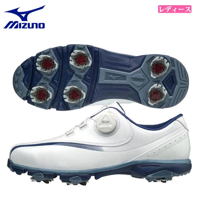 ミズノ レディース ゴルフ スパイクシューズ ワイドスタイル001ボア EEEE 51GW1840 MIZUNO 軽量 ゆったり4Eモデル