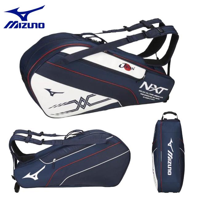 ミズノ テニス ラケットバッグ(6本入れ) 63JD8X01 MIZUNO ソフトテニス日本代表使用予定レプリカモデル