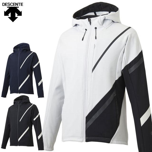 デサント トレーニングジャケット メンズ ZERO STYLE タフフリース フルジップパーカー DMMOJF29Z DESCENTE ウインドブレーカーのような防風 ジャージ