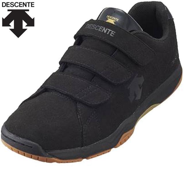デサント シューズ メンズ レディース ユニセックス 靴 SKY LO RE 20SS バレーボールレフリーシューズ スニーカー アクセサリー 3本ベルトタイプ 軽量 通気性 レフェリー 審判 バレーボール 試合 練習 トレーニング 23.0-30.0 DESCENTE DV1MJB01BK