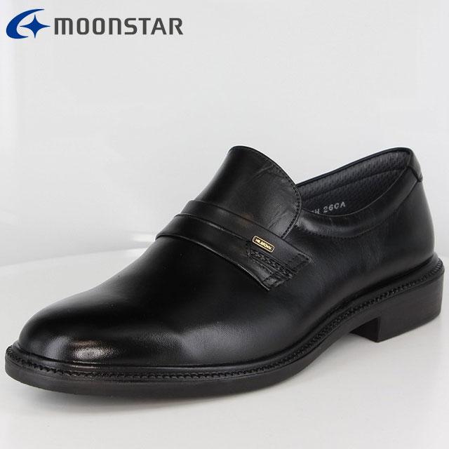 メンズ 撥水 コンフォートシューズ ブラック MB6020A 革靴 ビジネスシューズ 4E 日本製 ソフトな履き心地 47550886 ワイド ムーンスター MOONSTAR