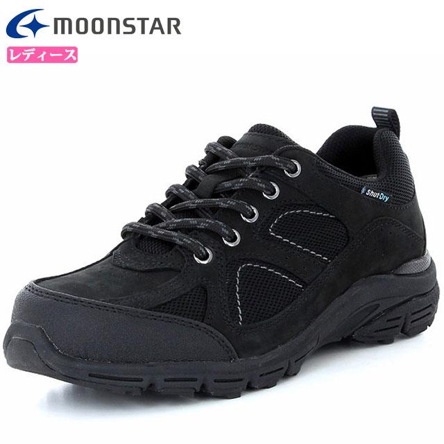 MOONSTAR レディース 3E ウォーキングシューズ アウトドア 48597736 ワールドマーチ ブラック WL3602 防水 軽量 ムーンスター 長時間の歩行をサポート 透湿
