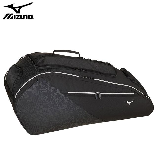 ミズノ テニス ソフトテニス ラケットバッグ 9本入れ MIZUNO 63JD0008 シューズポケット サイドポケット チェストベルトボトル収納 可動式パーテーション スポーツバッグ