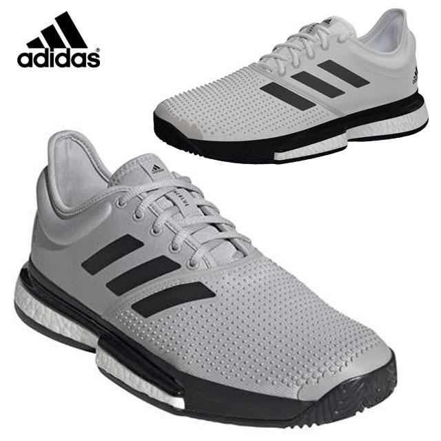 アディダス テニス シューズ メンズ ソールコート Boost プライムブルー EG7693 adidas プロ着用モデル オールラウンド用 高耐久