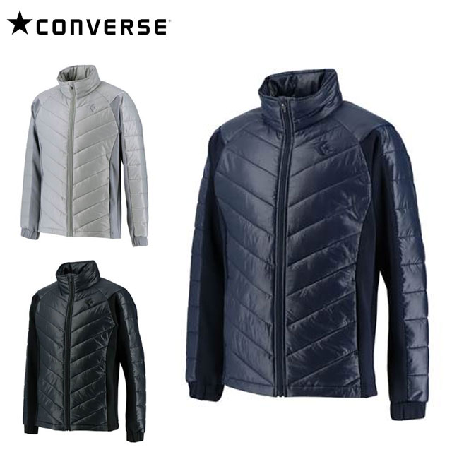 コンバース スポーツウエア メンズ 中綿ジャケット CB292501S CONVERSE 防風 保温 スタッフウォームジャケット シンプルなデザイン