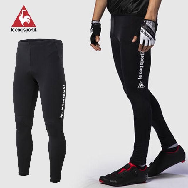 送料無料 ルコック サイクリング ウエア メンズ Fit-able Pants Long 本店 Tights coq sportif 初売り 再帰反射 サイクリングパッド ロングパンツ ストレッチ le UVカット QCMPGD61