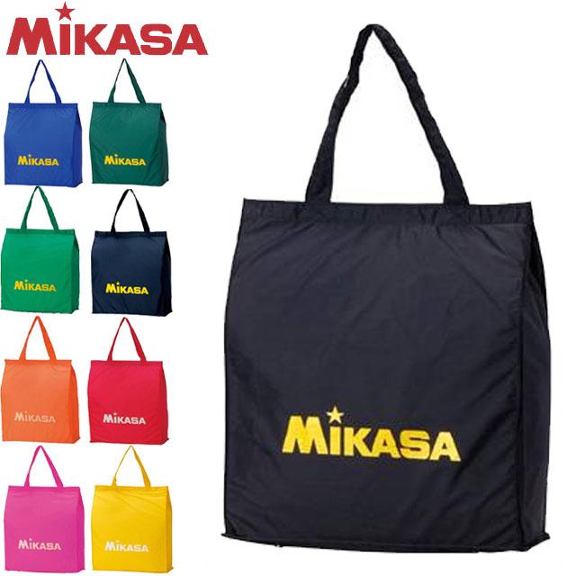 ネコポス 全国一律300円 信用 対応可能 ミカサ MIKASA レジャーバッグ ロゴラメ入り BA22 サブバッグ 折りたたみホック付 新作製品 世界最高品質人気 スポーツ トートバッグ 部活