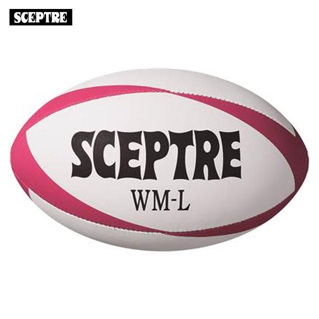 送料無料 セプター ラグビーボール WM-L 送料無料カード決済可能 ホットピンク ホワイト SCEPTRE 特殊ラバー 5号球 毎週更新 日本ラグビーフットボール協会認定球 競技ボール SP13L
