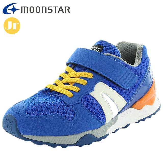 送料無料 ムーンスター スニーカー キッズ MS C2280 ブルー MOONSTAR 超人気 抗菌防臭 機能性カップインソール ジュニア 安売り つま先ゆったり 子供靴 2E カジュアルシューズ 12181775