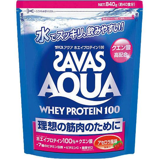 SAVAS (ザバス) CA1337 アクア ホエイプロテイン100 アセロラ風味 ビッグ(840g)