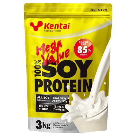 Kentai (ケンタイ) 健康体力研究所 メガバリュー 100%ソイプロテイン プレーンタイプ 3kg