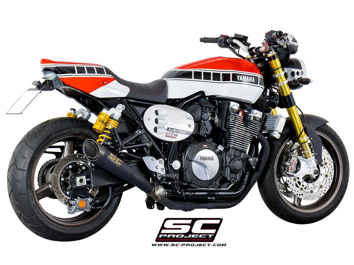 【正規輸入代理店】SC-PROJECT ( SCプロジェクト ) - マットブラック S1スリップオン サイレンサー YAMAHA XJR 1300 / RACER '15-17