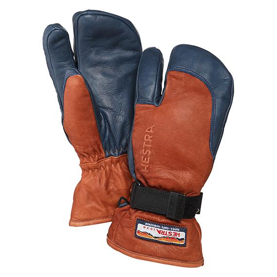 スノーボード スキー グローブ レザー 手袋 HESTRA 3-FINGER GTX FULL LEATHER スリーフィンガーゴアテックスフルレザー 【送料無料!】 正規品。
