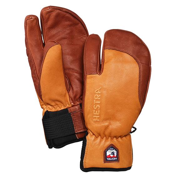 スノーボード スキー グローブ レザー 手袋 HESTRA 3-FINGER FULL LEATHER SHORT スリーフィンガーフルレザーショート 【送料無料!】 正規品。