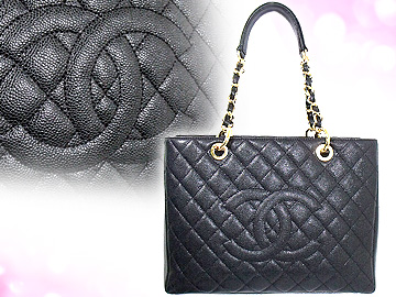 Chanel Bags Tote Bag A50995 Black タイムレスクラッシック Caviar Skin Cc Sching Large チェーントート 00 V Low Price Off
