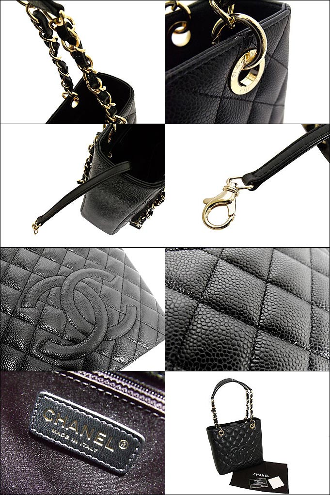 Chanel CHANEL ★ bags (tote bag) A50994 black タイムレスクラッシック caviar skin CC stitch medium チェーントート 00 V low-price % off!! Ladies ☆ casual bag for commuting
