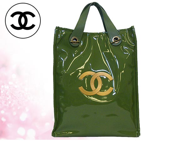 Chanel Chanel CHANEL ★ bags (Tote) Green CHANEL/HARRODS x Harrod's collaboration with 2WAY Tote (limited edition) low-price % off!! Ladies ☆ casual bag for commuting