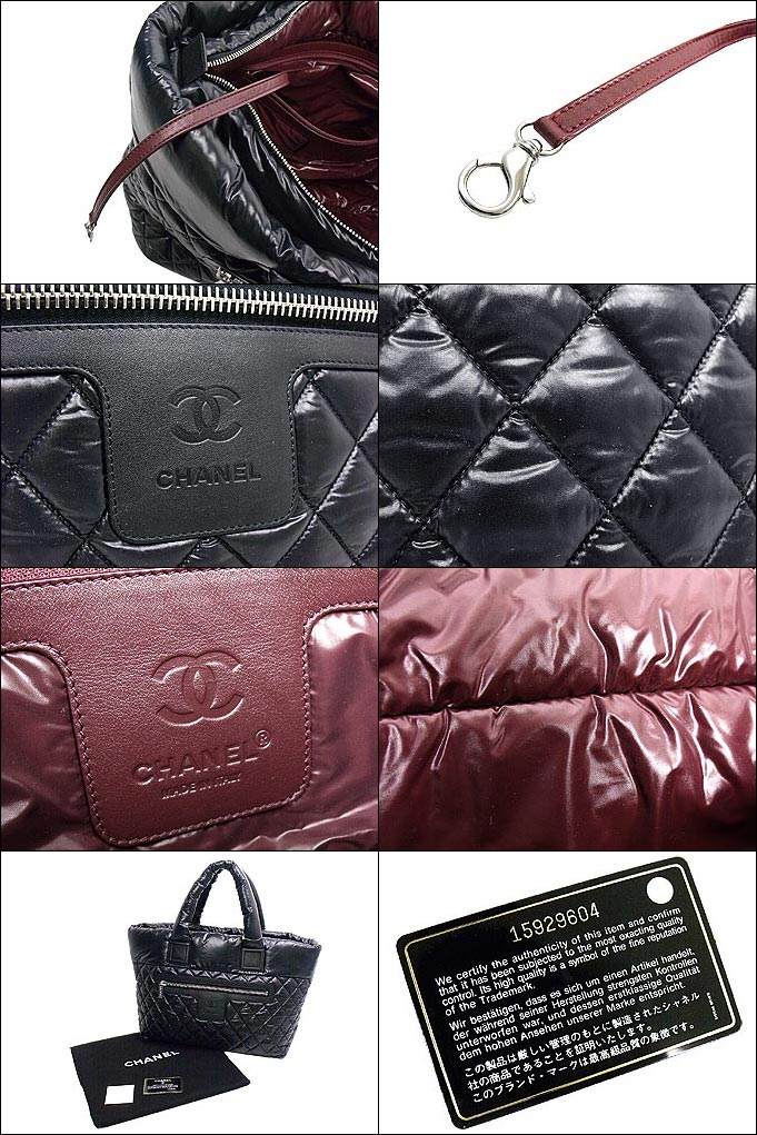 Chanel 香奈儿 ★ 袋 (手提包) A48611 黑色可可茧可可茧尼龙绗缝中等大手提包折扣 %女士们回出售出售 ☆