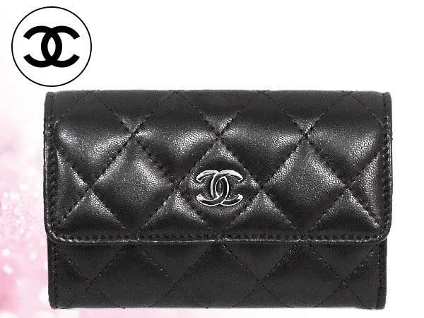 1a5a92abdb4c Cheap Chanel CHANEL ☆ accessory (card holders) A50169 black タイムレスクラッシック  lambskin leather flap card case with coin! Women s brand sale store SALE ...