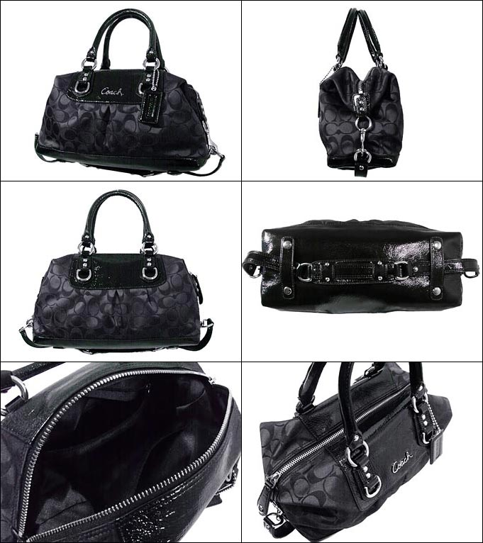 black and gray coach online factory outlet efoz  And writing coach COACH  reviews! Bags handbags F15443 black gray 脳 black