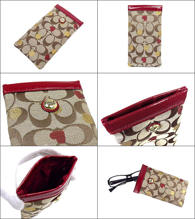 Coach COACH ★ accessories (eyeglass case) F61489 multicolor Laura secret admire signature アイケース outlet product discount % Women's sale-SALE store