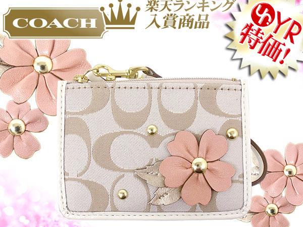 Import Collection Coach Purse Coach Coin F47549 Pink Khaki