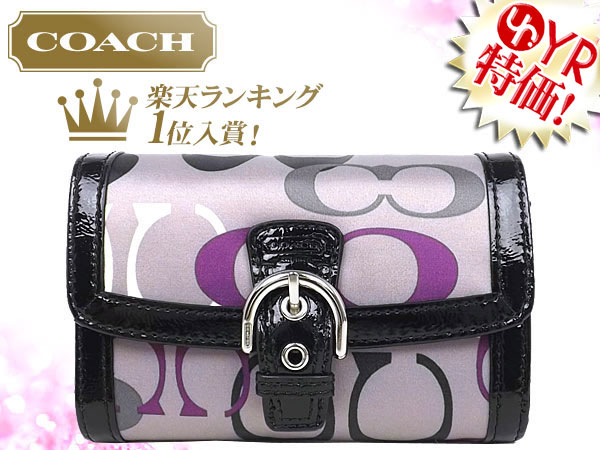 c9a0738bb471f And writing coach COACH ☆ reviews! Wallet (2 fold wallet) F47982 multicolor  SOHO optic signature print compact clutch outlet product discount % Women s  ...