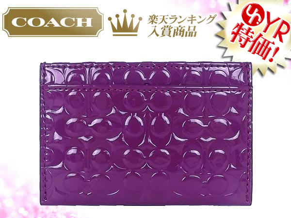Coach COACH ★ accessory (card holders) F62544 Berry signature embossed liquid gloss card case outlet products discount % Women's sale-SALE store