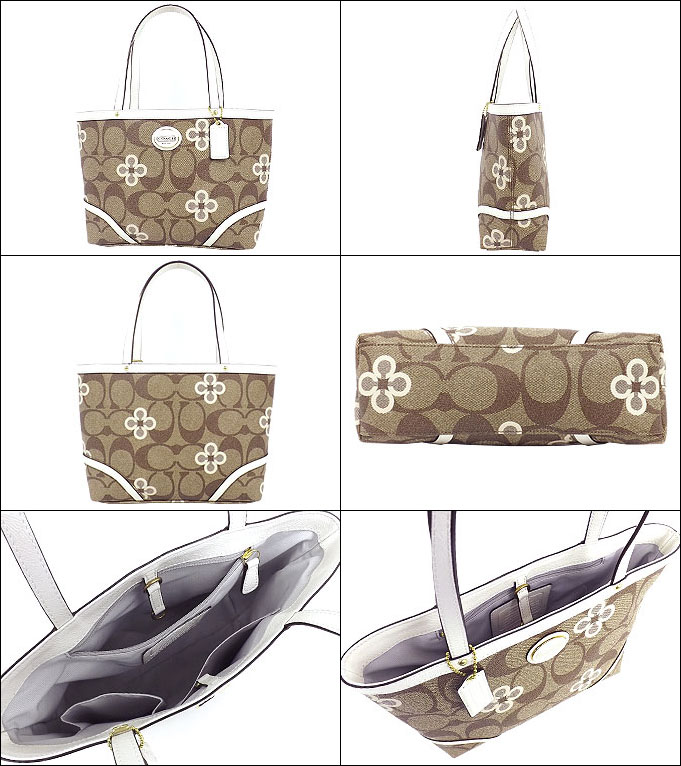 And writing coach COACH ★ reviews! Bags (handbags) F48314 white multi Peyton signature clover top handle Tote outlet product discount % Ladies back sale SALE store