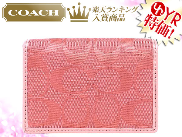 Import collection rakuten global market coach coach accessory coach coach accessory card holders f63764 coral signature business card case outlet product discount womens sale sale store colourmoves