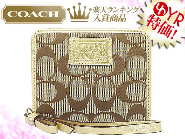 And writing coach COACH ★ reviews! Wallet (2 fold wallet) F49085 khaki x Gold Daisy poppy signature medium zip around outlet product discount % Women's sale-SALE store