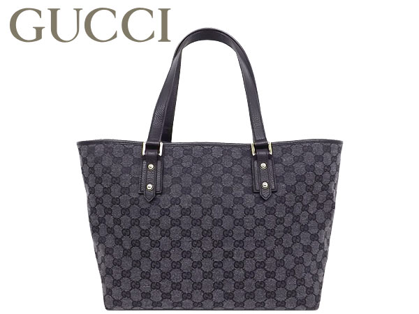 97a581d4f8e1 Gucci by GUCCI ☆ bags (tote bag) 257248 FFPRG 8881 black GG canvas x leather  tote bag outlet product discount % Women s casual commuter