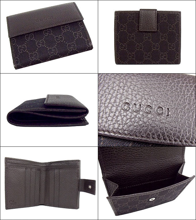 sneakers for cheap 0e7d2 71544 Gucci by GUCCI ★ wallet (purse) 143387 F5DIN1086 dark brown GG denim x  leather W hook purse outlet products cheap! Men's women's
