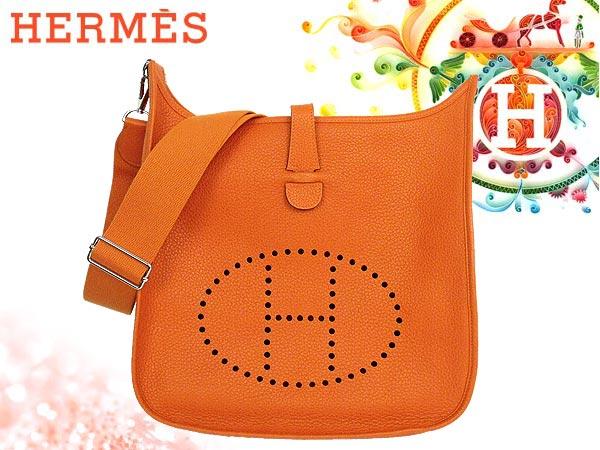 1fb3ac5e46fc Hermes HERMES ☆ bag (shoulder bag) Orange Evelyn Evelyn 3 (Trois) GM  トリヨンクレマンス S bracket N imprinted bags real cheap! Ladies ladies sale SALE  back ...