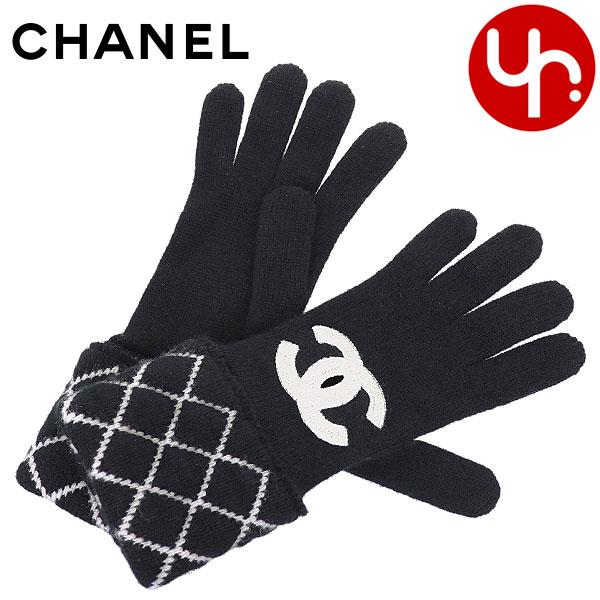 シャネル CHANEL 小物 手袋 A77552 ブラック 特別送料無料 ブリティッシュ アップリケCC 手袋レディース ブランド 通販 2020 父の日