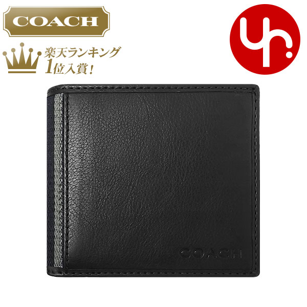 cf83eb868bbc0 And writing coach COACH ☆ reviews! Wallets (2 fold wallet) F74617 Black  Heritage Web leather ID coin wallet outlet product discount % Mens ladies  sale SALE ...