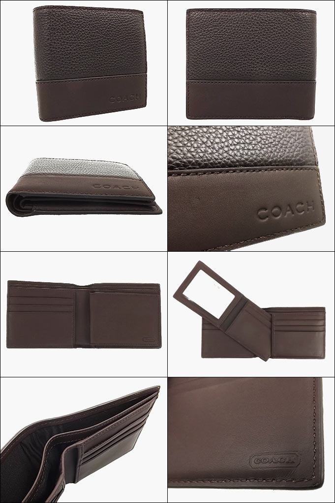520191d3b54cd Coach COACH ☆ wallet (2 fold wallet) F74634 74634 mahogany × dark mahogany  Camden leather compact ID wallet outlet products