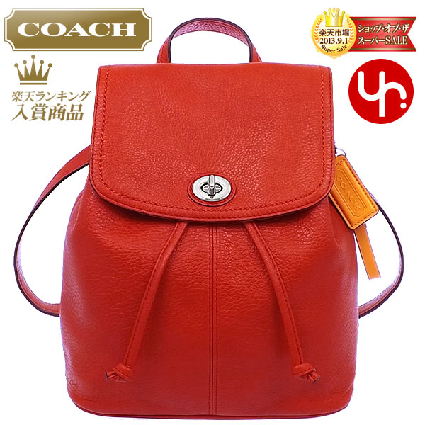 891bca04eef5 And writing coach COACH ☆ reviews! Bag (backpack) F24385 vermilion Parker  leather backpacks outlet product discount % Women s bags sale SALE store
