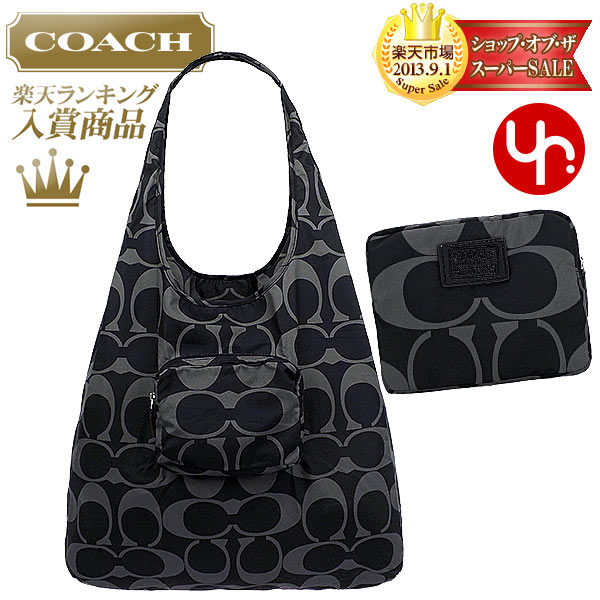 02556fc9ac2b And writing coach COACH ☆ reviews! Bags (tote bag) F66180 black Hoodie  signature フォルディング eco-Tote outlet products cheap! Women s brand sale store  ...