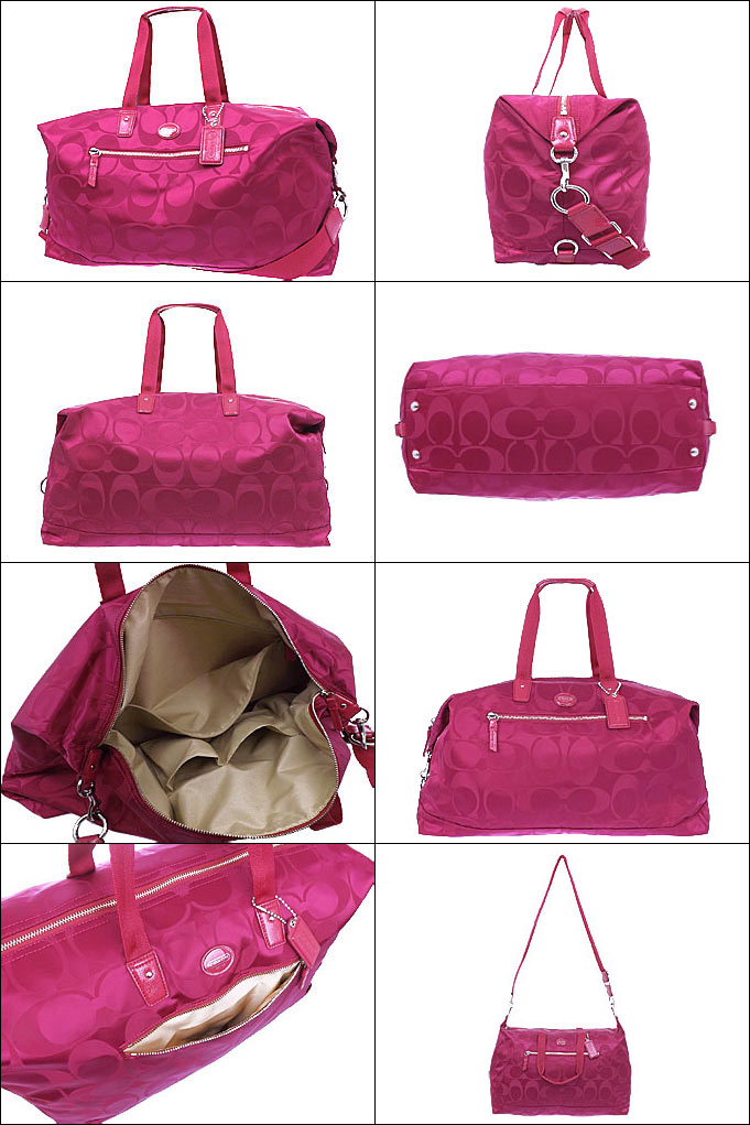 Coach Bag Boston F77469 77469 Fuchsia Getaway Signature Nylon Travel Duffle Outlet Products