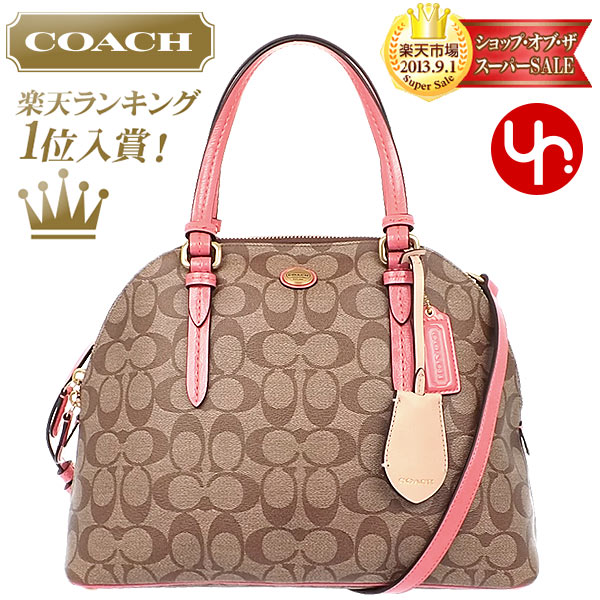 And writing coach COACH ☆ reviews! Bags (handbags) F24606 khaki   coral Peyton  signature Cola domed satchel outlet products cheap! Women s brand sale  store ... ca45b0c591