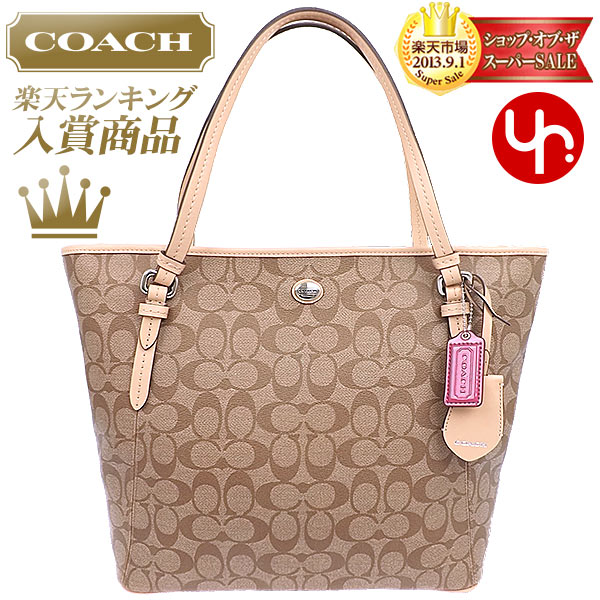 55500ebb7e And writing coach COACH ☆ reviews! Bags (tote bag) F28365 khaki x Tan ...