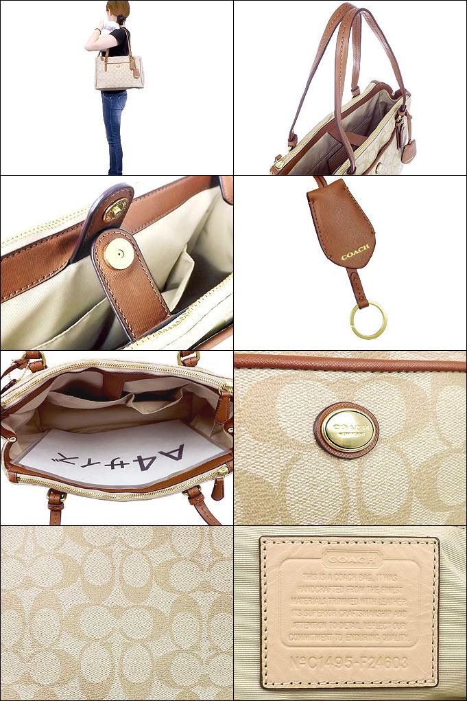 Coach Bags Handbags F24603 24603 Light Khaki Saddle Peyton Signature Jordan Double Zip Carry All Outlet Products