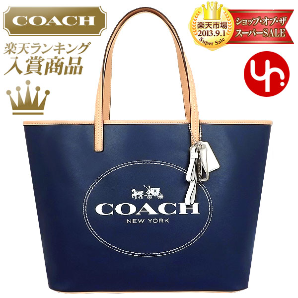f8a9fbad48 And writing coach COACH ☆ reviews! Bags (tote bag) F31315 Navy parka Metro